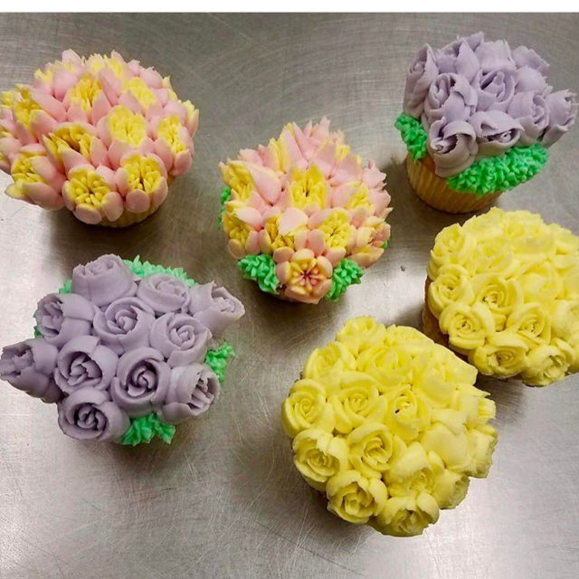 littlerockfarmmv Delivered the most amazing Tulip Cupcakes! great Easter present!!!hellip