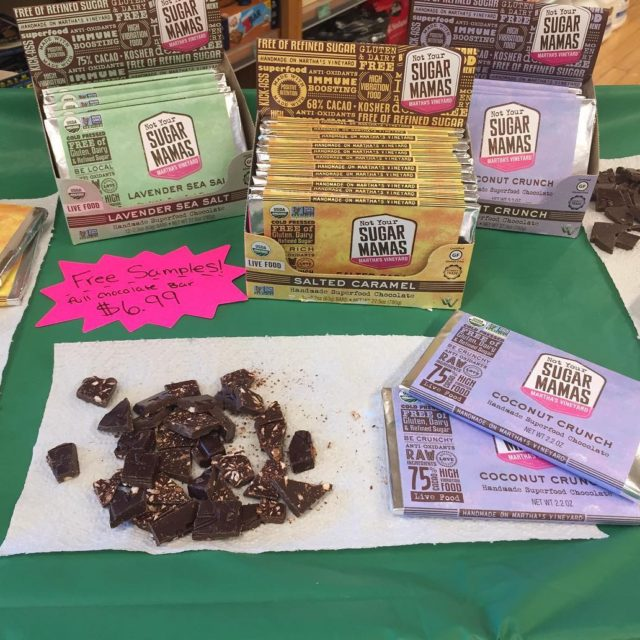 Were sampling notyoursugarmamas chocolate ALL day! You could say werehellip