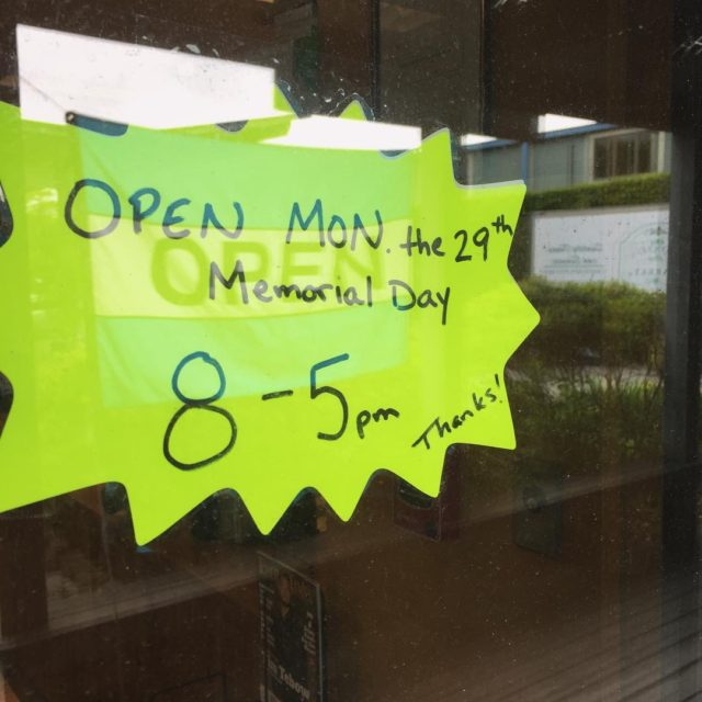 We will be open on Monday Memorial Day! Open 85hellip