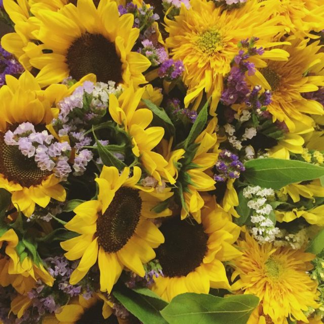 Beautiful sunflower bouquets from North Tabor Farm Locally grown inhellip