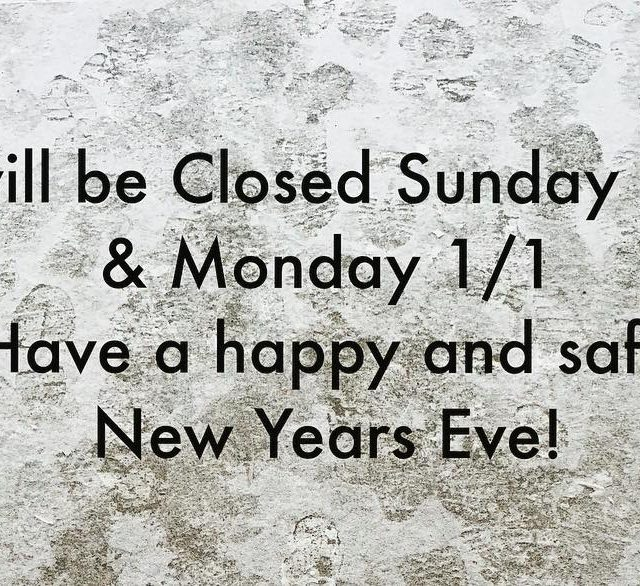 Happy new year! We will be Closed on Mondayhellip